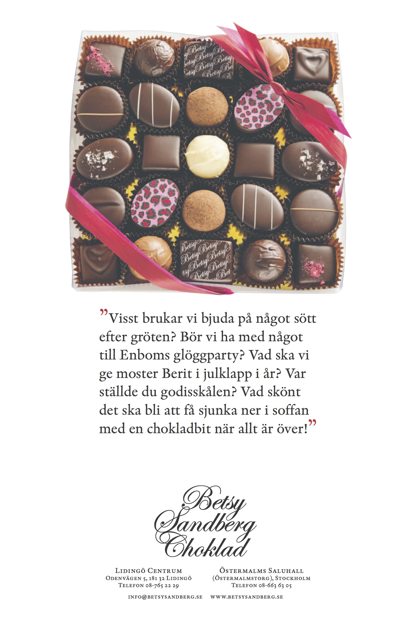 betsy sandberg choklad